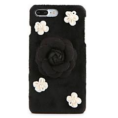 Для Стразы Своими руками Кейс для Задняя крышка Кейс для Цветы Твердый Текстиль для AppleiPhone 7 Plus iPhone 7 iPhone 6s Plus/6 Plus