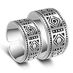 お買い得  指輪-女性用 カップルリング / 指輪  -  プラチナメッキ スタイリッシュ 調整可 シルバー 用途 結婚式 / パーティー / パーティー/フォーマル