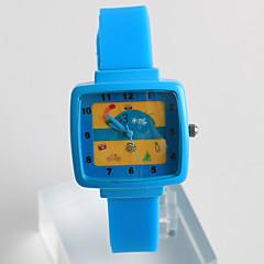 abordables Novedades-Mujer Reloj de Moda Reloj Casual Cuarzo / Silicona Banda Casual Azul Gris Rosa
