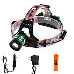 U'King Czołówki Reflektor LED 1000 lm 3 Tryb Cree XM-L T6 z baterią i ładowarkami Zoomable Regulacja promienia High Power Łatwe