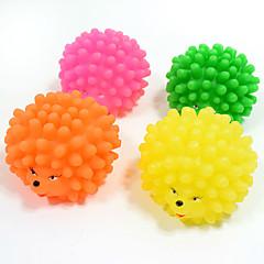 Hundespielzeug Haustierspielsachen Kugel Kau-Spielzeug Zahnhygienespielzeug quietschen Langlebig Schubkraft Halloween Gummi