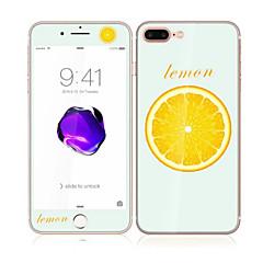 для Apple Iphone 7 плюс 5,5 закаленного стекла с мягким краем передней полный охват экрана и задней протектор экрана лимонным рисунком