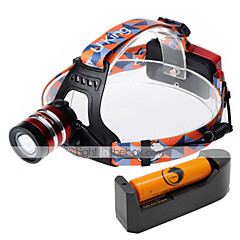 preiswerte Stirnlampen-U'King Stirnlampen Fahrradlicht LED LED 1000 lm 3 Beleuchtungsmodus inklusive Batterie und Ladegerät Zoomable-, einstellbarer Fokus, Hohe Kraft Camping / Wandern / Erkundungen, Für den täglichen