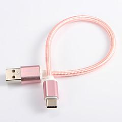USB 2.0 Type C Gevlochten Kabel Voor Samsung Huawei Sony Nokia HTC Motorola LG Lenovo Xiaomi 20 cm Nylon
