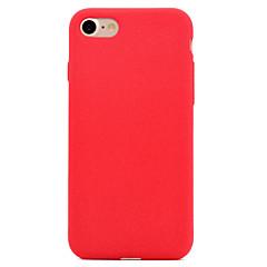 Для Матовое Кейс для Задняя крышка Кейс для Один цвет Мягкий Текстиль для AppleiPhone 7 Plus iPhone 7 iPhone 6s Plus/6 Plus iPhone 6s/6