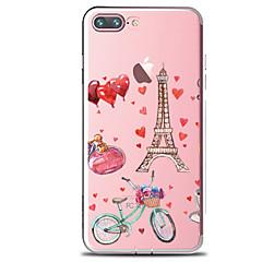 voordelige iPhone 7 hoesjes-Voor Transparant Patroon hoesje Achterkantje hoesje Eiffeltoren Zacht TPU voor AppleiPhone 7 Plus iPhone 7 iPhone 6s Plus iPhone 6 Plus