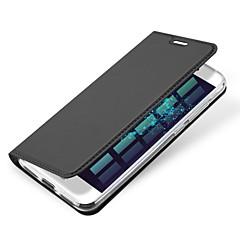 halpa Huawei kotelot / kuoret-Varten Korttikotelo Flip Magneetti Etui Kokonaan peittävä Etui Yksivärinen Kova Tekonahka varten HuaweiHuawei P9 Huawei P9 Lite Huawei P9