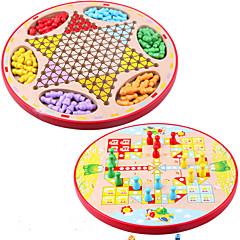 Brettspiel Schachspiel Bildungsspielsachen Vaterschaftsspiele Spielzeuge Kreisförmig Holz Stücke Kinder Unisex Geschenk