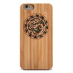 Недорогие Кейсы для iPhone 6 Plus-Кейс для Назначение iPhone 6s Plus / iPhone 6 Plus / iPhone 6s Защита от удара / Рельефный Кейс на заднюю панель Животное / Сияние и блеск Твердый Бамбук для iPhone 6s Plus / iPhone 6s / iPhone 6 Plus