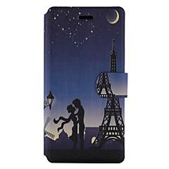 Для Бумажник для карт со стендом Флип С узором Кейс для Чехол Кейс для Эйфелева башня Твердый Искусственная кожа для HuaweiHuawei P9 Lite