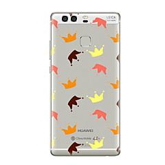 Недорогие Чехлы и кейсы для Huawei Mate-Для Прозрачный С узором Кейс для Задняя крышка Кейс для Плитка Мягкий TPU для HuaweiHuawei P10 Plus Huawei P10 Lite Huawei P10 Huawei P9