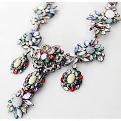 preiswerte Halsketten-Damen Synthetischer Saphir Anhängerketten / Statement Ketten - Modisch, Euramerican Regenbogen Modische Halsketten Schmuck Für Party, Besondere Anlässe, Geburtstag, Geschenk