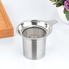 abordables Accesorios para té-Acero inoxidable Manual 1pc Colador de té