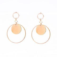 Χαμηλού Κόστους Σκουλαρίκια-θαυμαστής σκουλαρίκια Κοσμήματα Κυκλικό Κρεμαστό Μοντέρνα Εξατομικευόμενο Euramerican Χαλκός Round Shape Χρυσό Κοσμήματα ΓιαΠάρτι
