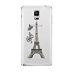 Mert Átlátszó Minta Case Hátlap Case Eiffel torony Puha TPU mert Samsung Note 5 Note 4 Note 3 Note 2