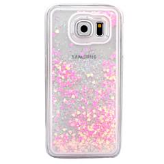 billige Galaxy S6 Etuier-Etui Til Samsung Galaxy S7 edge S7 Flydende væske Transparent Bagcover Glitterskin Hårdt PC for S7 edge S7 S6 edge plus S6 edge S6 S5 S4