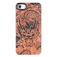 Недорогие Кейсы для iPhone 7-Кейс для Назначение iPhone 7 Plus IPhone 7 Apple С узором Рельефный Кейс на заднюю панель Животное Твердый деревянный для iPhone 7 Plus