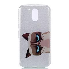 إلى IMD نموذج غطاء غطاء خلفي غطاء قطة لامع بريق ناعم PC إلى Motorola MOTO G4 Moto G4 Plus