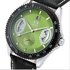 お買い得  メンズ腕時計-男性用 ファッションウォッチ レザー バンド カジュアル ブラック