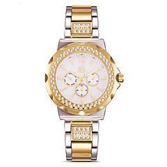 preiswerte Damenuhren-SK Damen Quartz Armbanduhr Chinesisch Wasserdicht Imitation Diamant Schockresistent Legierung Band Charme Retro Kreativ Simulierte