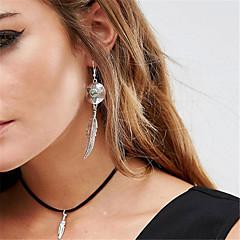 preiswerte Halsketten-Damen Halsketten / Anhängerketten / Anhänger - Träne Personalisiert, Anhänger Stil, Modisch Weiß, Schwarz, Braun Modische Halsketten Für Alltag, Normal