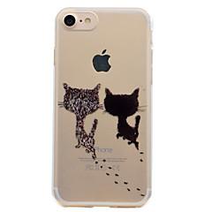 お買い得  iPhone 5S/SE ケース-ケース 用途 Apple iPhone 7 Plus iPhone 7 クリア パターン バックカバー 猫 ソフト TPU のために iPhone 7 Plus iPhone 7 iPhone 6s Plus iPhone 6s iPhone 6 Plus iPhone 6