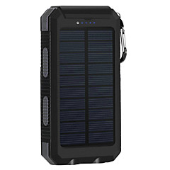 8000mAh Solar Power Bank Portable Solar Phone Charger Outdoors Emergency External Battery for Cellphone Multi-Output Flashlight