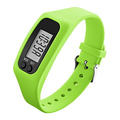 お買い得  大特価腕時計-男性用 リストウォッチ / スポーツウォッチ LCD シリコーン バンド キャンディ ブラック / 白 / ブルー