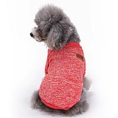 Katte Hunde Frakker T-shirt Hundetøj Vinter Forår/Vinter Ensfarvet Sød Mode Sport Rød Grøn Blå Lys pink Lyseblå