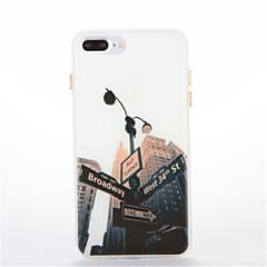 Для Сияние в темноте С узором Кейс для Задняя крышка Кейс для Панорама города Мягкий TPU для AppleiPhone 7 Plus iPhone 7 iPhone 6s Plus