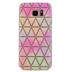 billige Galaxy S6 Etuier-Etui Til Samsung Galaxy S8 Plus S8 Transparent Mønster Bagcover Geometrisk mønster Blødt TPU for S8 Plus S8 S7 edge S7 S6 edge S6 S5 Mini