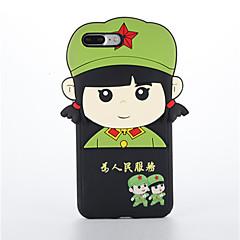 Недорогие Кейсы для iPhone 7-Кейс для Назначение Apple iPhone 7 Plus iPhone 7 Защита от удара Кейс на заднюю панель 3D в мультяшном стиле Мягкий Силикон для iPhone 7