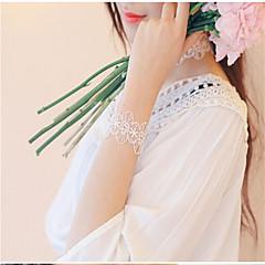 お買い得  ブレスレット-女性用 チェーン&リンクブレスレット  -  レース フラワー ファッション ブレスレット ホワイト / ブラック 用途 パーティー