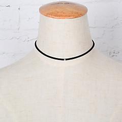 preiswerte Halsketten-Damen Einzelkette Halsketten - Strass, Diamantimitate Schleife Europäisch, Simple Style, Modisch Schwarz Modische Halsketten Schmuck Für Party, Alltag, Normal