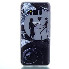 olcso Galaxy S3 tokok-Case Kompatibilitás Samsung Galaxy S8 Plus S8 Foszforeszkáló Jeges Áttetsző Minta Fekete tok Szív Puha TPU mert S8 Plus S8 S7 edge S7 S6