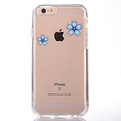 Недорогие Кейсы для iPhone 6-Кейс для Назначение Apple iPhone 7 Plus iPhone 7 Прозрачный С узором Кейс на заднюю панель Цветы Мягкий ТПУ для iPhone 7 Plus iPhone 7