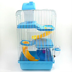 Hamster Plastic Metal Portable Multi-function Cosplay Cages Coffee Blue Pink