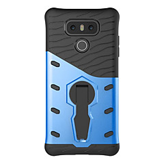 For G6 K20 Shockproof with Stand Case Back Cover Case Solid Color Hard PC LG K10 K8 K7 X Power