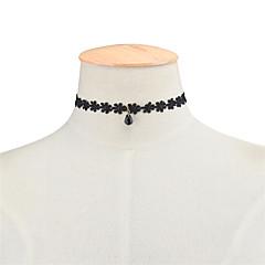 preiswerte Halsketten-Damen Halsketten - Spitze Blume, Träne Acryl Diamant, Modisch, Euramerican Schwarz Modische Halsketten Schmuck Für Party, Besondere Anlässe, Geburtstag