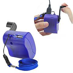 USB ręką korby obsługi telefonu komórkowego ładowarka dynamo awaryjnego dla mp4 mp3 mobile pda-- niebieski