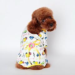 tanie Odzież dla kota-Kot Pies T-shirt Piżama Ubrania dla psów Urocza Codzienne Kreskówka Yellow Niebieski Różowy Kostium Dla zwierząt domowych
