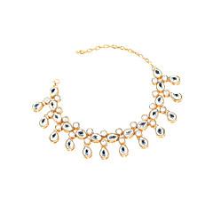 Mujer Brazalete tobillo/Pulseras y Brazaletes Cristal Moda Gota Dorado Plata De las mujeres Joyas Para Diario Casual 1 pieza