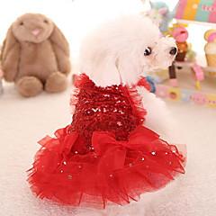 voordelige -Kat Hond Jurken Hondenkleding Schattig Prinses Rood Roze Kostuum Voor huisdieren