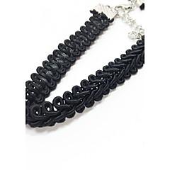 preiswerte Halsketten-Damen Halsketten - Spitze Einzigartiges Design, Tattoo Stil, Grundlegend Schwarz Modische Halsketten Für Hochzeit, Jahrestag, Geburtstag