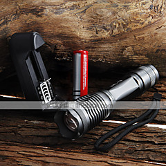 UltraFire LED Flashlights / Torch LED 2000 lm 5 Mode Cree XM-L T6 with Battery and Charger Zoomable Adjustable Focus Waterproof