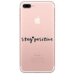 Назначение iPhone X iPhone 8 Чехлы панели Прозрачный С узором Задняя крышка Кейс для Слова / выражения Мягкий Термопластик для Apple