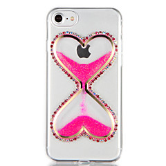 billige Etuier til iPhone 7-For Rhinsten Flydende væske GDS Etui Bagcover Etui Glitterskin 3D-tegneserie Blødt TPU for AppleiPhone 7 Plus iPhone 7 iPhone 6s Plus