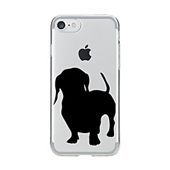 voordelige iPhone 7 Plus hoesjes-hoesje Voor Apple iPhone 7 Plus iPhone 7 Transparant Patroon Achterkant Hond Zacht TPU voor iPhone 7 Plus iPhone 7 iPhone 6s Plus iPhone