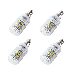 billige LED-lyspærer-4W 300-350 lm E14 E27 E26 LED-kornpærer T 48 leds SMD 2835 Kjølig hvit DC 12-24V