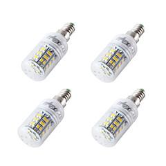 preiswerte LED-Birnen-4pcs 4W 300-350lm E14 E27 E26 LED Mais-Birnen T 48 LED-Perlen SMD 2835 Kühles Weiß 12-24V